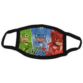 Μάσκα παιδική βαμβακερή πολλαπλών χρήσεων PJ MASKS