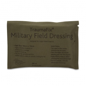 Επίδεσμος Αιμοστατικός Στρατιωτικός Reliance Trauma Fix Military με Επίθεμα 10 x 19 cm
