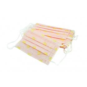 Μάσκες προστασίας παιδικές με λάστιχο για παιδιά 3-6 ετών 10 τμχ μάσκες ροζ με παπάκια