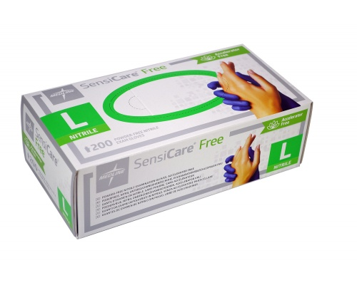 Γάντια εξεταστικά νιτριλίου χωρίς πούδρα SENSICARE® free 200 τεμάχια μπλε