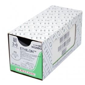 Ράμματα Ethicon Ethilon, μη απορροφήσιμα 3/0 26mm 45cm W320BG