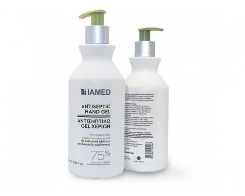 Αντισηπτικό Gel χεριών 75% με βιολογική αλόη και ενυδατικούς παράγοντες IAMED 400ml