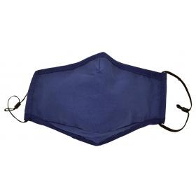 Μάσκα υφασμάτινη πολλαπλών χρήσεων μπλε με τσεπάκι FASHION