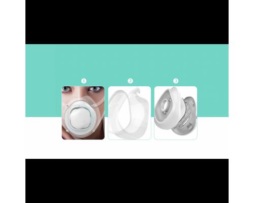 'Εξυπνη ηλεκτρική μάσκα προστασίας Airwheel F3  99.9%  προστασίας