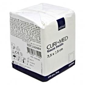 Γάζες υφασμένες μη αποστειρωμένες 7.5 x 7.5 cm 8ply 100τεμάχια