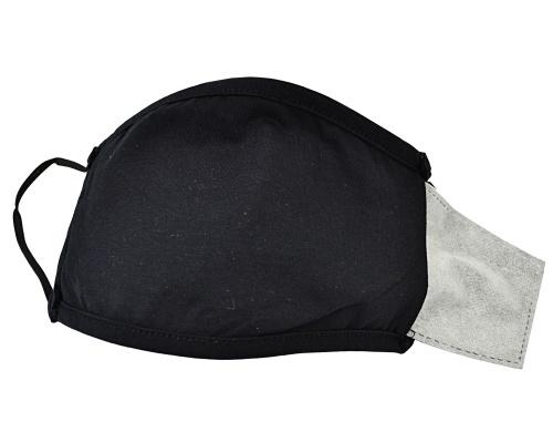 Μάσκα μαύρη υφασμάτινη πολλαπλών χρήσεων με φίλτρο DELUXE
