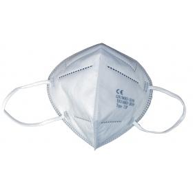 Μάσκα προσώπου υψηλής προστασίας 5ply KN95 (FFP2) λευκή, 1 τεμάχιο
