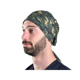 Fabric Surgical Caps Military Green 20817 Μ