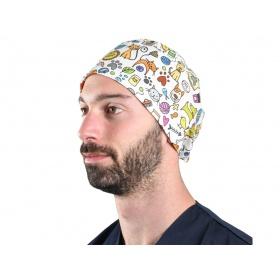 Fabric Surgical Caps Smile pet 20821 M