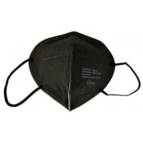 Μάσκα προσώπου υψηλής προστασίας 5ply KN95 (FFP2) μαύρη, 1 τεμάχιο