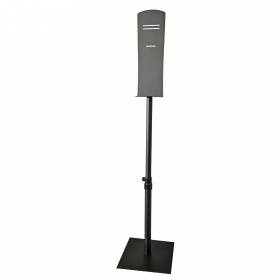 Folding metal disinfectant stand