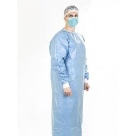 Ποδιές χειρουργικές προστασίας 56gr Γαλάζιες  PP, full laminated 100% αδιάβροχη  μιας χρήσης