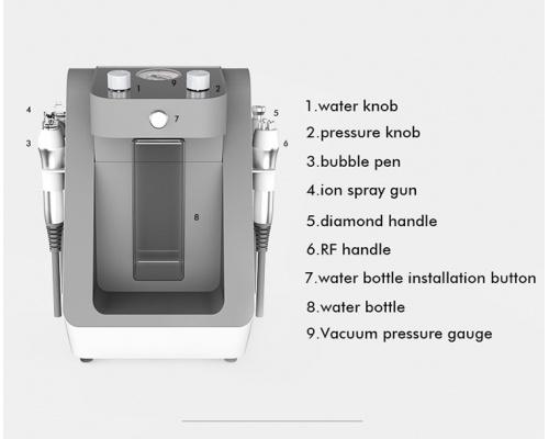 Συσκευή Υδροδερμοαπόξεσης & Δερμοαπόξεσης με διαμάντι και Ραδιοσυχνότητες  4 σε 1 Water RF Facial