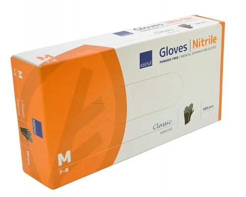 Γάντια εξεταστικά νιτριλίου χωρίς πούδρα ABENA CLASSIC 100 τεμάχια μαύρα