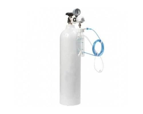 Φιάλη οξυγόνου 5lt με μανόμετρο-ροόμετρο-υγραντήρα