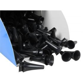 Χωνάκια ωτοσκοπίου παιδιατρικά ή ενηλίκων 250 τεμάχια μαύρα