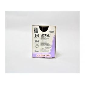 Ράμμα μέσης απορρόφησης Vicryl Ethicon 6/0, με στρόγγυλη βελόνα 13mm 45cm W9981