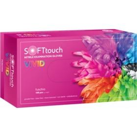 Γάντια εξεταστικά νιτριλίου χωρίς πούδρα Soft Touch Vivid 100 τεμάχια ροζ