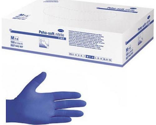 Γάντια εξεταστικά νιτριλίου χωρίς πούδρα Peha Soft Nitrile Fino 150 τεμάχια μπλε
