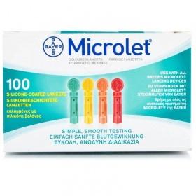 Βελόνες σακχάρου Microlet Bayer 100 τεμάχια