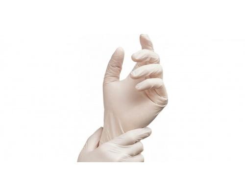 Γάντια εξεταστικά Latex με πούδρα ALFASHIELD 100 τεμάχια λευκά