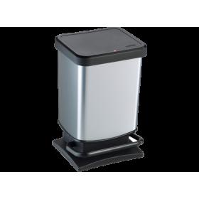 Κάδος τετράγωνος με πεντάλ PASO με υδραυλικό μηχανισμό κλεισίματος 6lit
