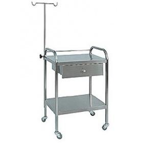 Τραπεζίδιο τροχήλατο νοσηλείας ΙΝΟΧ D10-30
