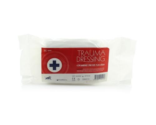 Επίδεσμος αιμοστατικός Trauma Dressing με επίθεμα 15 x 18 cm