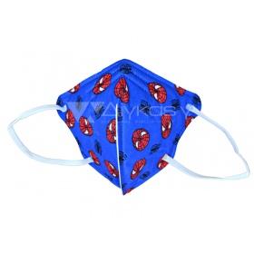 Παιδική μάσκα προσώπου FFP2 (KN95) υψηλής προστασίας μπλε SPIDERMAN, 1 τεμάχιο