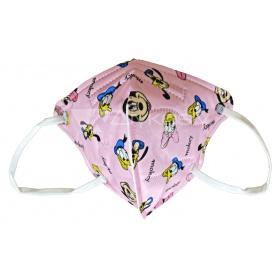 Παιδική μάσκα προσώπου FFP2 (KN95) υψηλής προστασίας ροζ DISNEY, 1 τεμάχιο