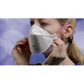Μάσκα προστασίας FFP3 1863+ χωρίς βαλβίδα λευκή, 1 τεμάχιο