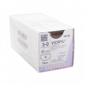 Ράμμα μέσης απορρόφησης Vicryl Ethicon 3/0 κόπτουσα βελόνα 22mm 45cm W9472